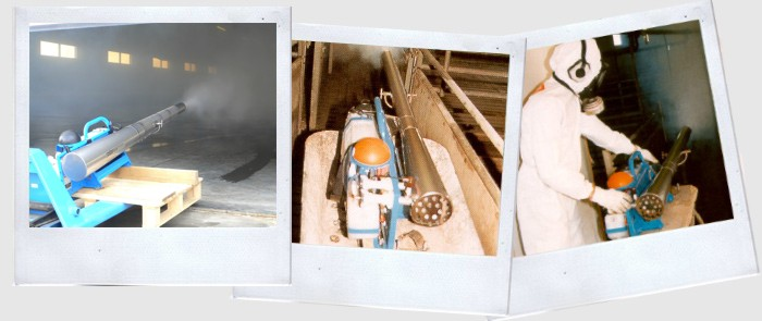 A selection of polaroids images while using pulsFOG thermal fogger