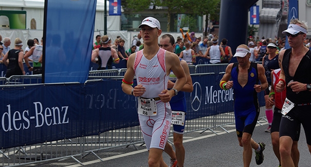 Image of pulsFOG worker Andreas Pleines at the Ironman