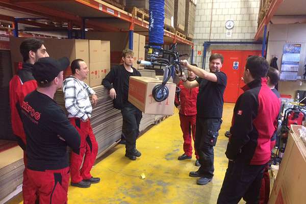 Team gets instructions for the new TAWI lift